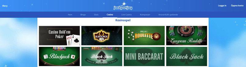 bordsspel hos jackpotjoy